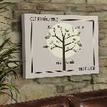 Bordered Family Tree Canvas
