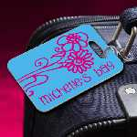 Personalized Pink Daisies Luggage Tag