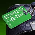 Personalized Greenery Luggage Tag