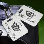 Personalized Crowned Royalties Luggage Tags