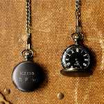 Classic Old Fashioned Pocket Watch (Charcoal)