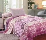 Lilac Pink Leaf Bundles Microplush Blanket