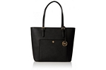 Michael Kors Jet Set Large Top Zip Snap Pocket Tote - Black