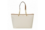 Michael Kors Jet Set Travel Chain Medium Top Zip Multifunctional Tote-Signature/Vanilla