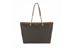 Michael Kors Jet Set Travel Chain Medium Top Zip Mult Funt Tote - Signature Brown