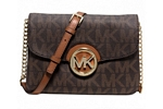 Michael Kors Fulton Flap Gsst Crossbody-Brown