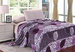 Plum & Lilac Leaf Pedals Microplush Blanket