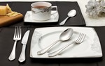 20 Piece 18/10 Flatware Set-Lorena Brushed Finish