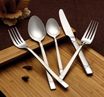 20 Piece 18/10 Flatware Set- Lorena Satin Finish