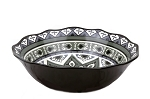 "13"" Round Bowl - Black and Gray"