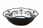 "13"" Round Bowl - White and Blue"