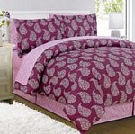 8-pc Dripping Paisley Print Bed in a Bag Set (Queen)