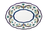 "18"" Wavy Platter - White and Blue"