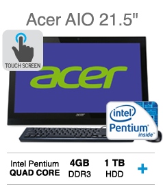 "21.5"" All in One Acer HD LED Touch Screen Desktop"