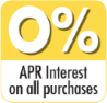 0% APR Interest on all purchases